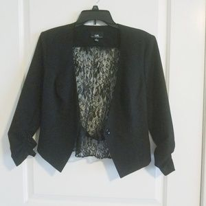 Black blazer with lace